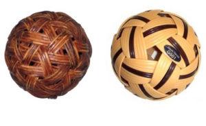 Rattanball, früher und heute