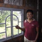 selbstangefertigtes Fenster