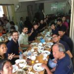 Mittagessen gemeinsam mit allen Lehrern