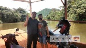 Felderkundung, Überquerung Kampot-Fluß