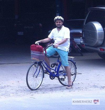Franz auf dem Fahrrad
