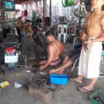 Minenopfer arbeitet als Mechaniker